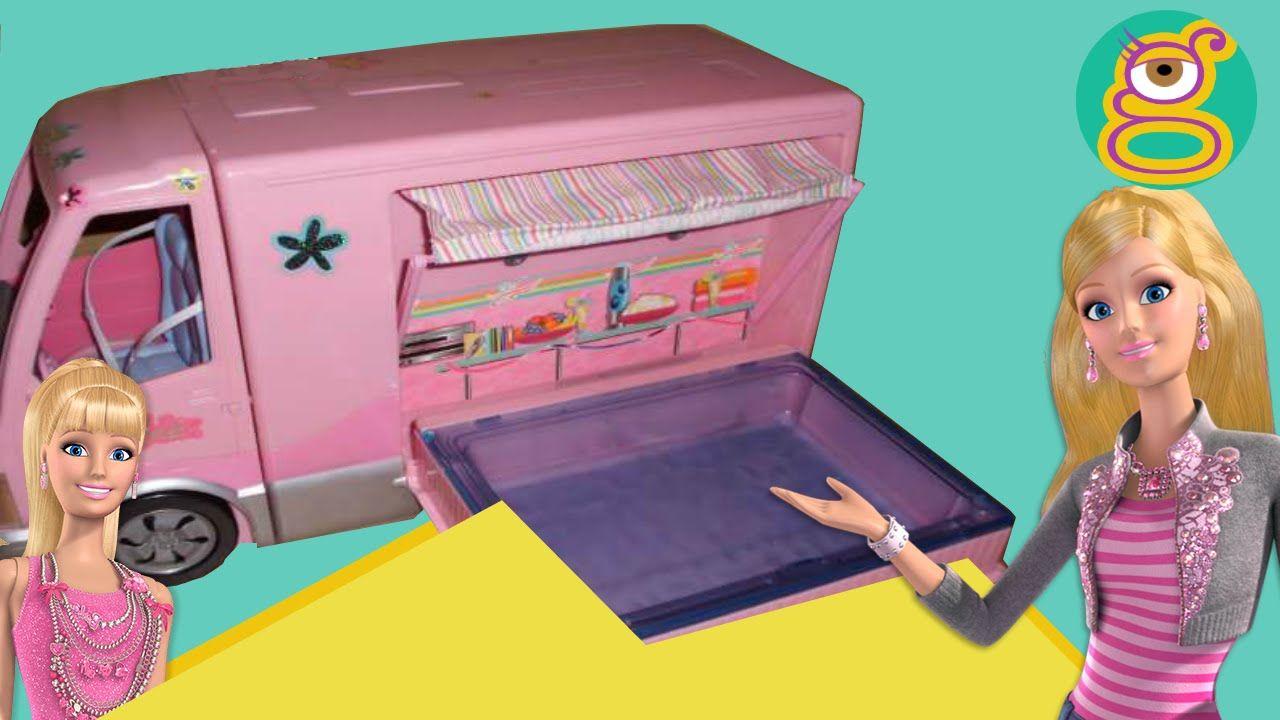 Autocaravana Barbie Camper Vacaciones Barbie Camper Van Swimming Pool Juguetes Barbie Toys