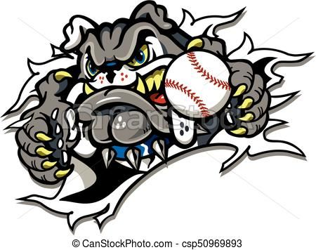 Vector Bulldog Baseball Stock Illustration Royalty Free Illustrations Stock Clip Art Icon Stock Clipart Icons Bulldog Mascot Free Illustrations Art Icon