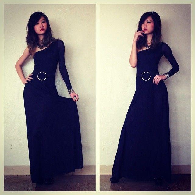 infinity belt. black milk clothing morticia dress x fox \u0026 owl infinity belt e