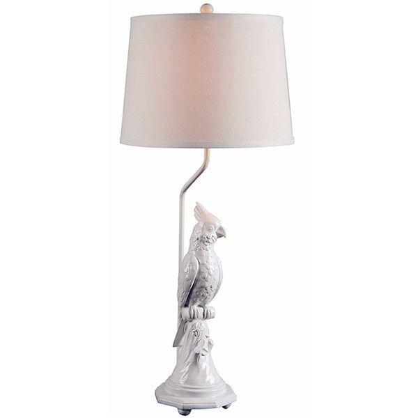 Modern Silk Like Shade White Resin Table Lamp In Parrot Design (u20ac100)