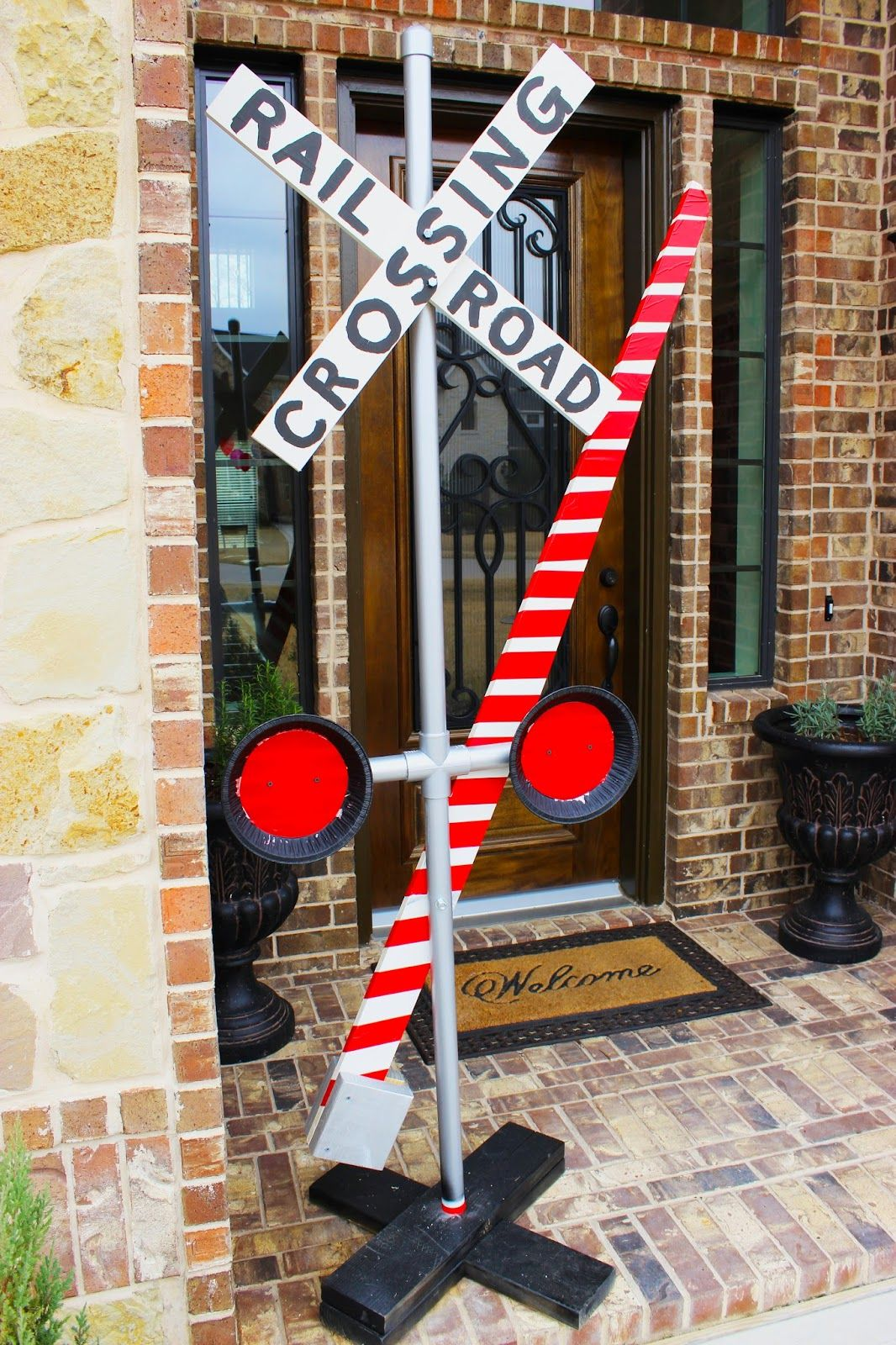 Vintage Train 3rd Birthday Party Railroad Crossing DIY