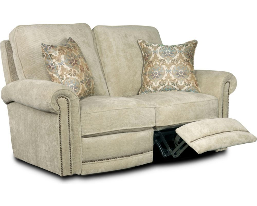 Reclining Sofa With Nailhead Trim Bomber Leather Enjoy The Customizable Jasmine Loveseat A Friend Or Family Member
