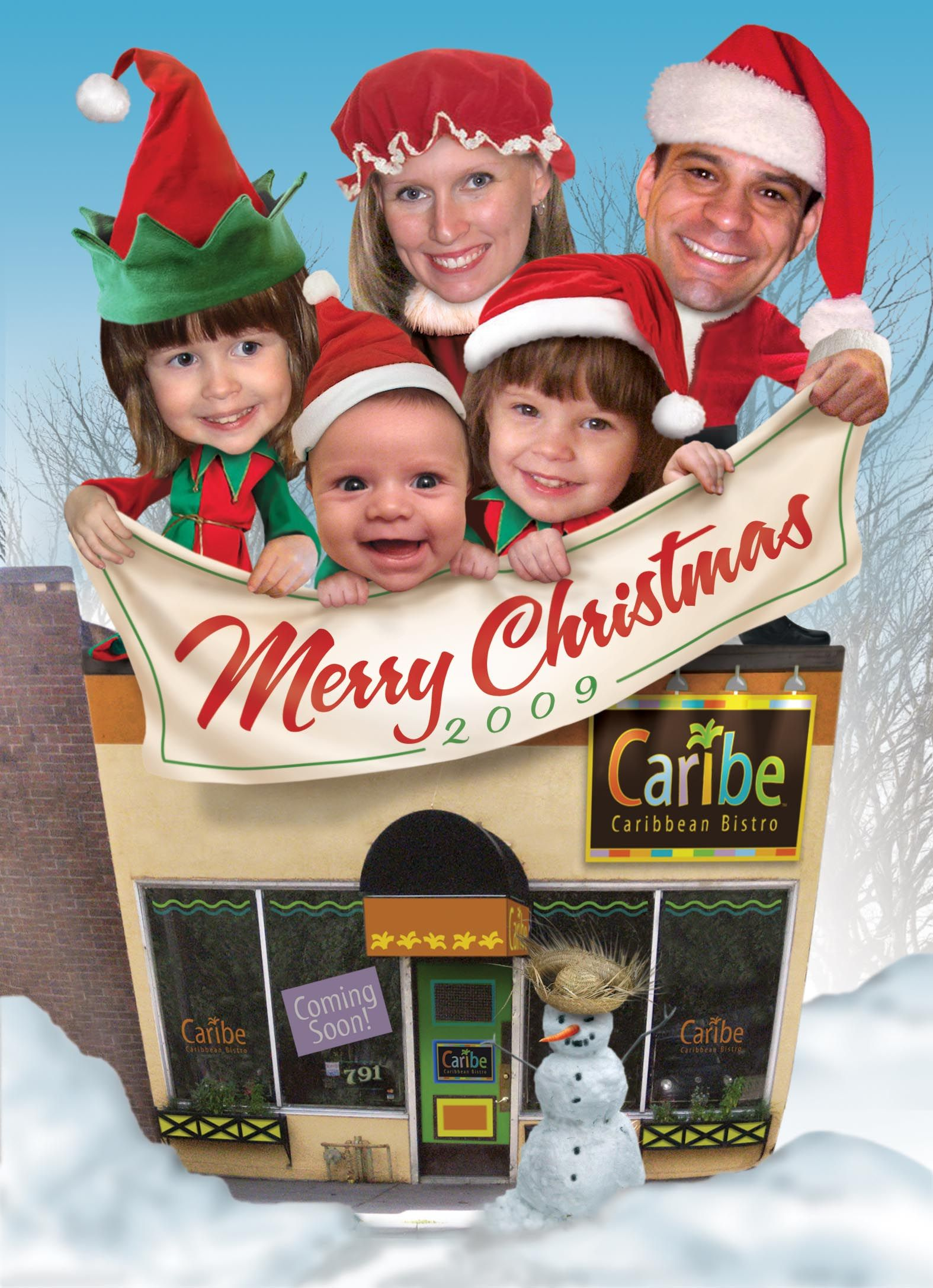2009 family Christmas card, done in Photoshop. | Christmas Family ...