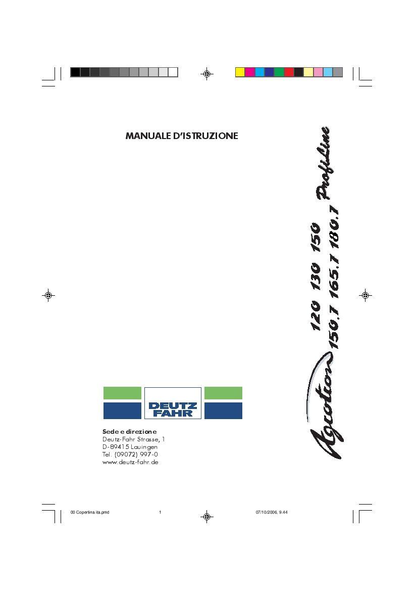 DEUTZ-FAHR AGROTRON 120-130-150-150.7-165.7 Italiano User