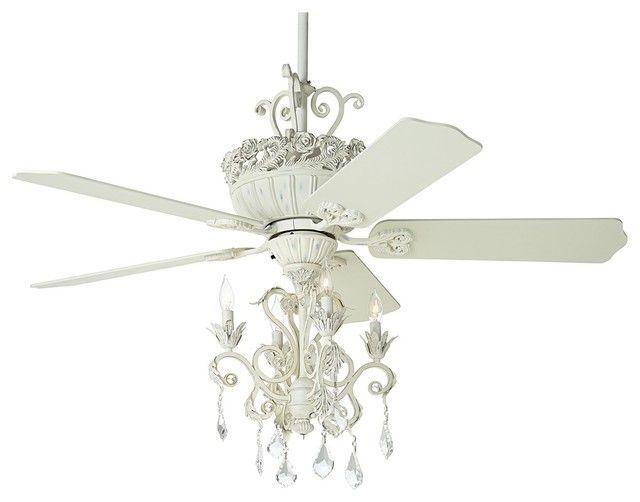 Superb White Chandelier Ceiling Fan | living room | Pinterest ...