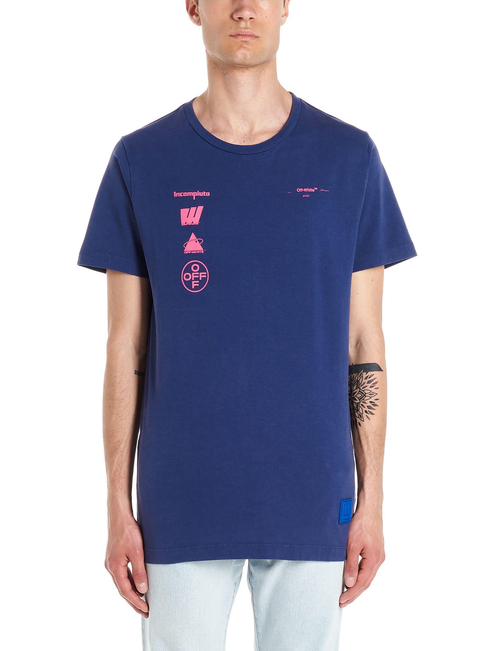 Off White Mariana De Silva T Shirt In Blu Multi Modesens [ 2136 x 1600 Pixel ]