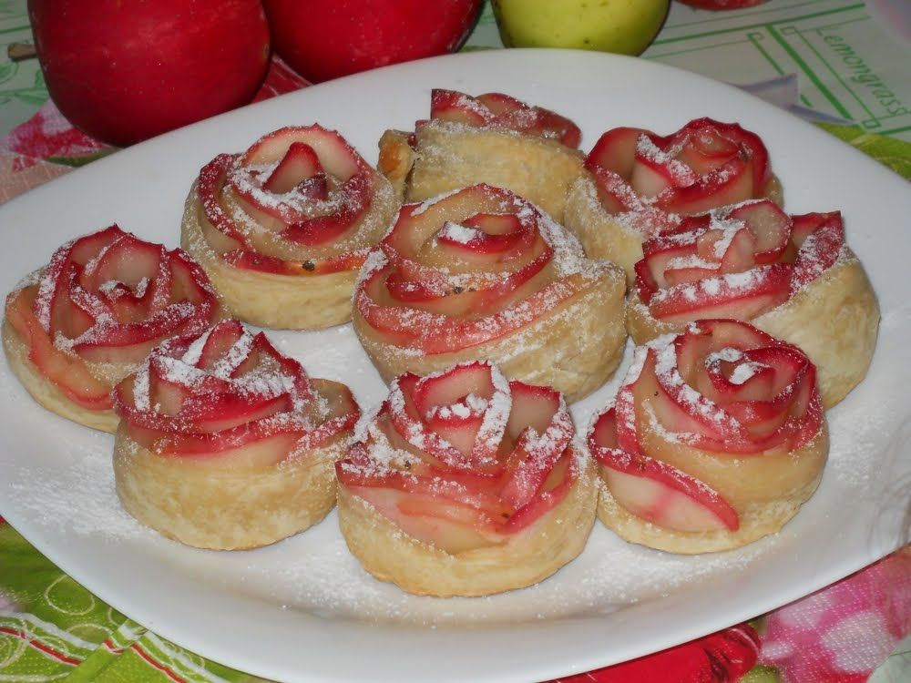 выпечка из слоеного теста и яблок рецепты с фото