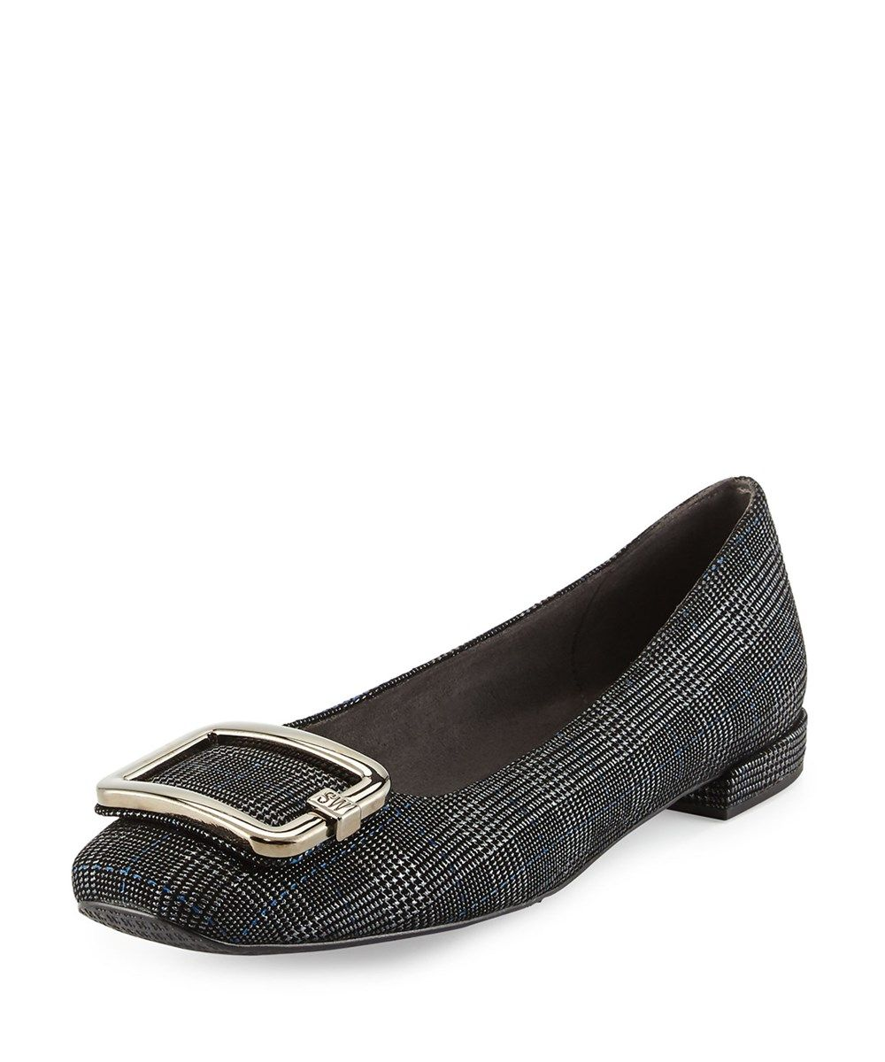 Delman Quilted Leather Ballet Flats
