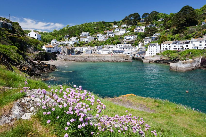 Polperro, Cornwall, England (where Isabella has her painting studio in a cottage on the hillside).