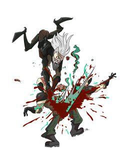 Metal Gear Rising #metal #gear #rising #revengeance #raiden #mgr #mgs #omegalbagel #omegal #bagel #art #fanart #fan #toon #drawing #cartoon