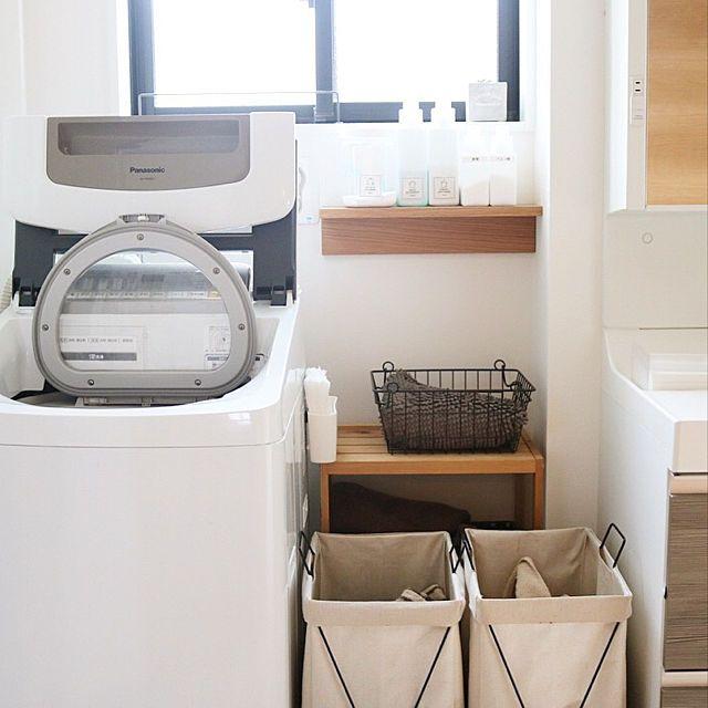 無印良品/洗濯機/洗濯機周り/壁に付けられる家具/100均/Bathroom…などのインテリア実例 -2017-12-13 13:17:44 | 洗濯 機、洗面所、無印良品