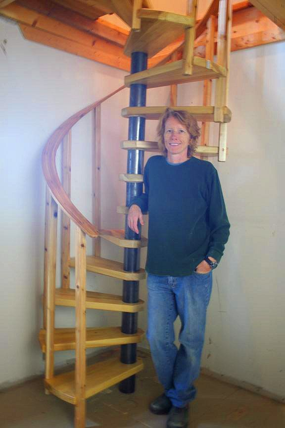 Wood Spiral Stairs Built From Spiral Stair Plans.