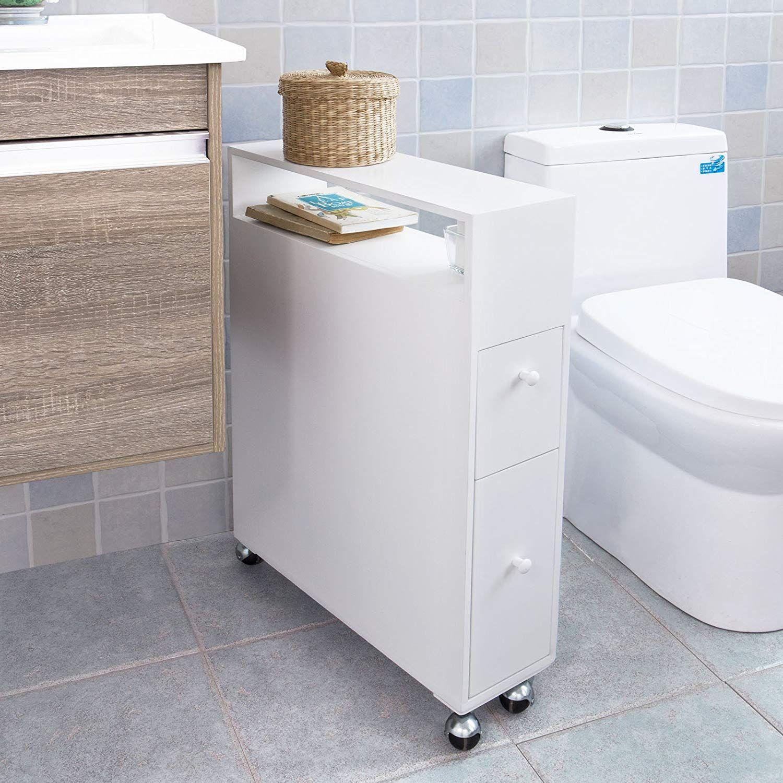Sobuy Frg51 W Meuble De Rangement A Roulettes Wc Porte Papier Toilettes Porte Brosse Wc Armoir Meuble Rangement Meuble Rangement Wc Meuble Rangement Papier