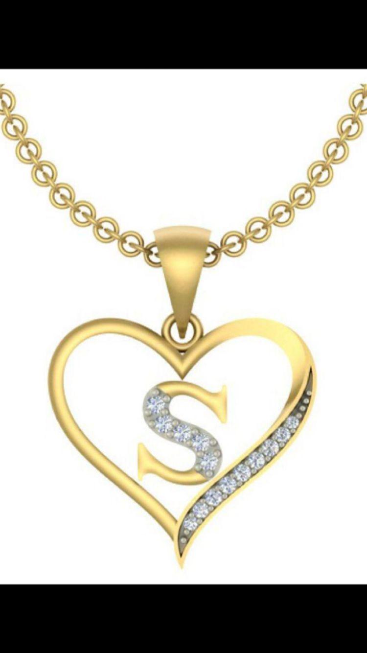 Lo Maxsimo Diamond Pendant Sets Beautiful Jewelry Letter Jewelry