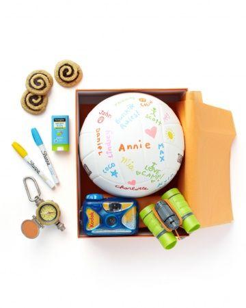 kid's summer camp care package via Martha Stewart