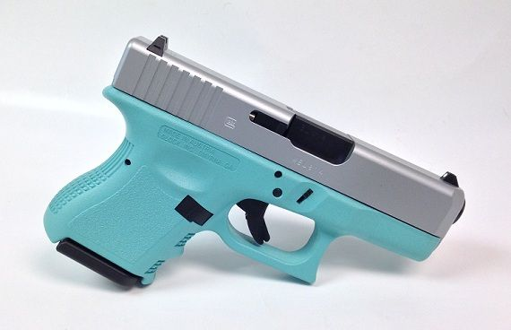 Here it is! A Tiffany Blue and Stainless Steel Colored Glock 26 Gen3