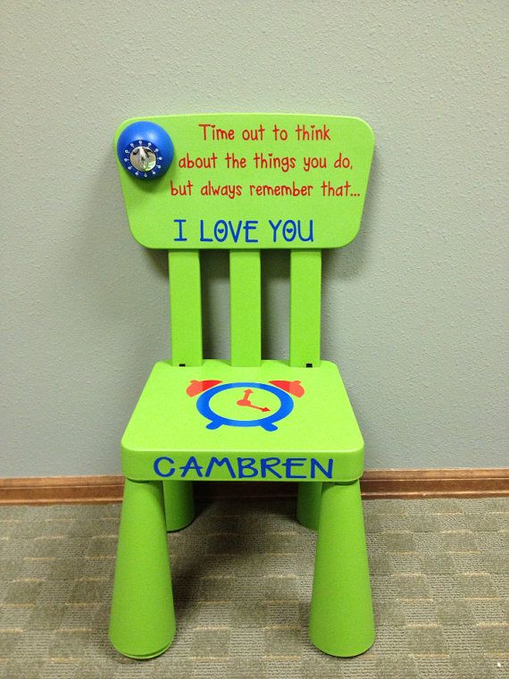 Personalized Time Out Chair With Timer Time Out Chair Kids And