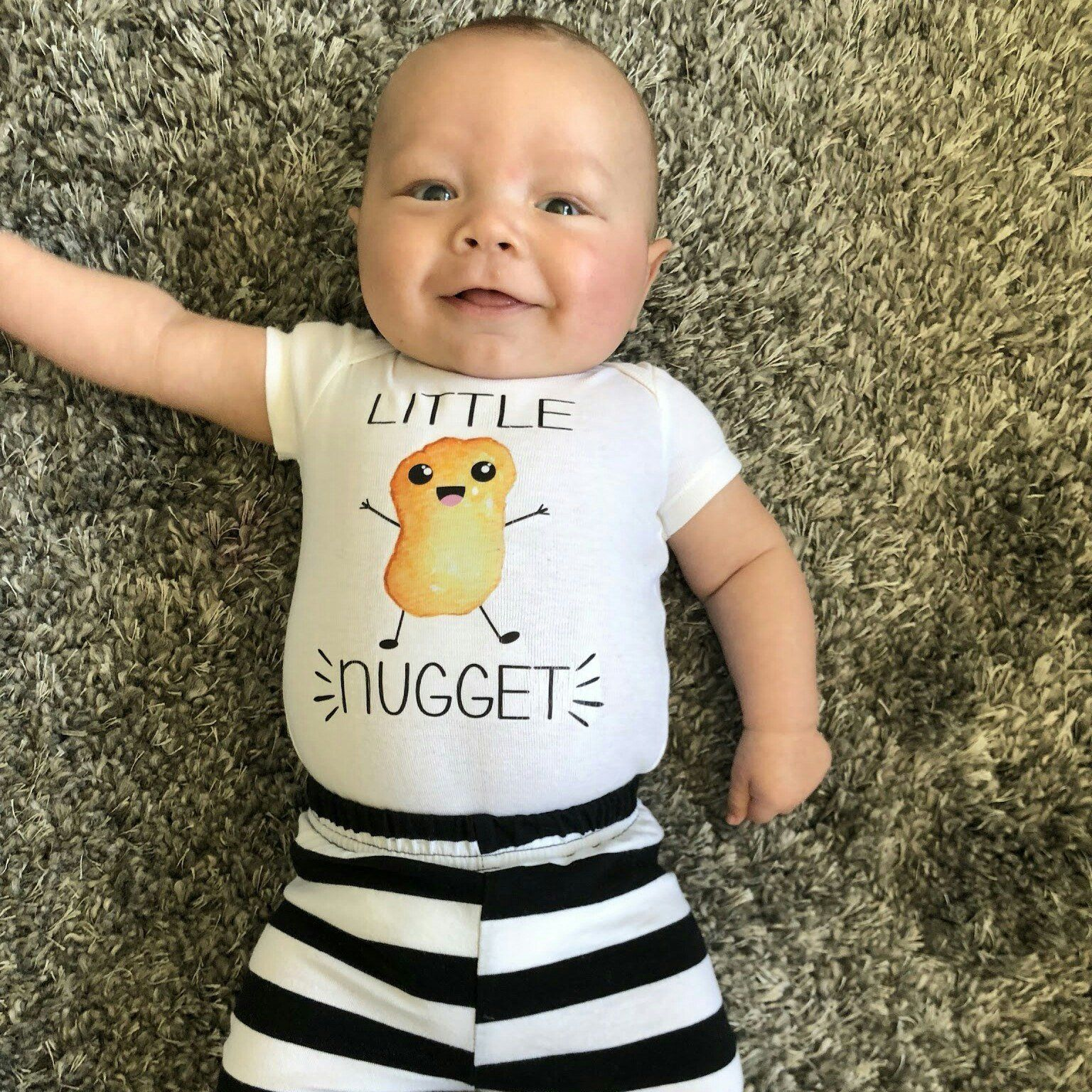 b4ebdbe2a461 Little Nugget Onesies® Brand or Carter s® Bodysuit Fast Food Baby ...