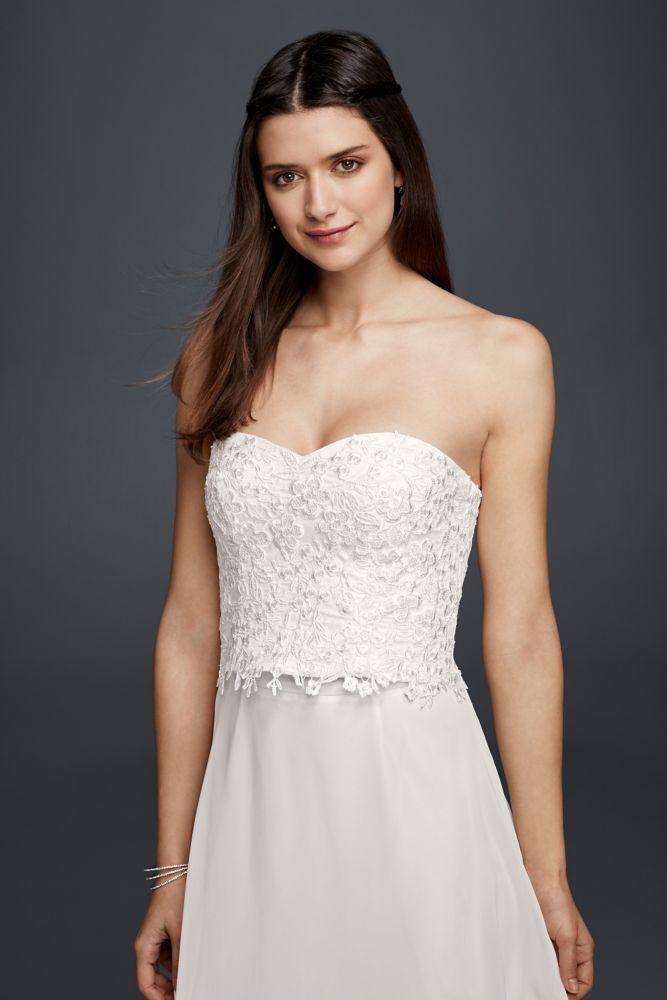 Wedding Dress Strapless Beaded Lace