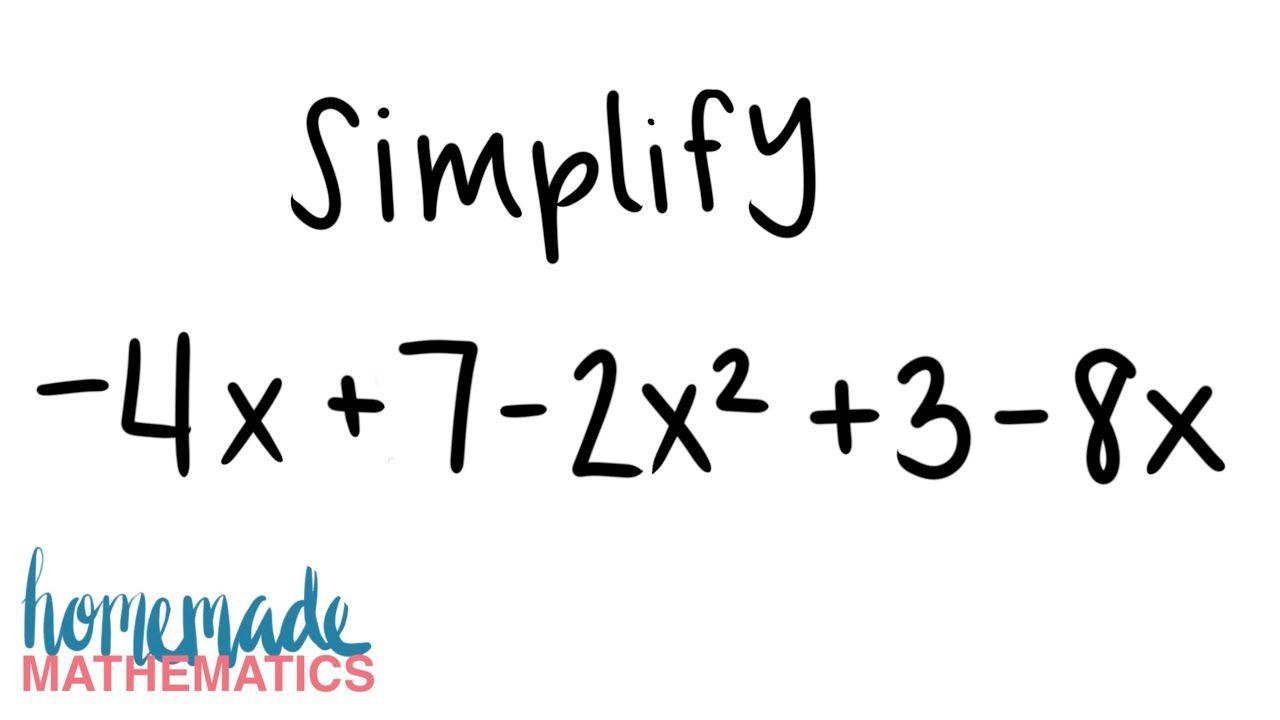 Simplifying Algebraic Expressions What Are Like Terms How To Simplify Algebra Help Youtube Simplifying Algebraic Expressions Algebra Help Like Terms Simplifying expressions addition and