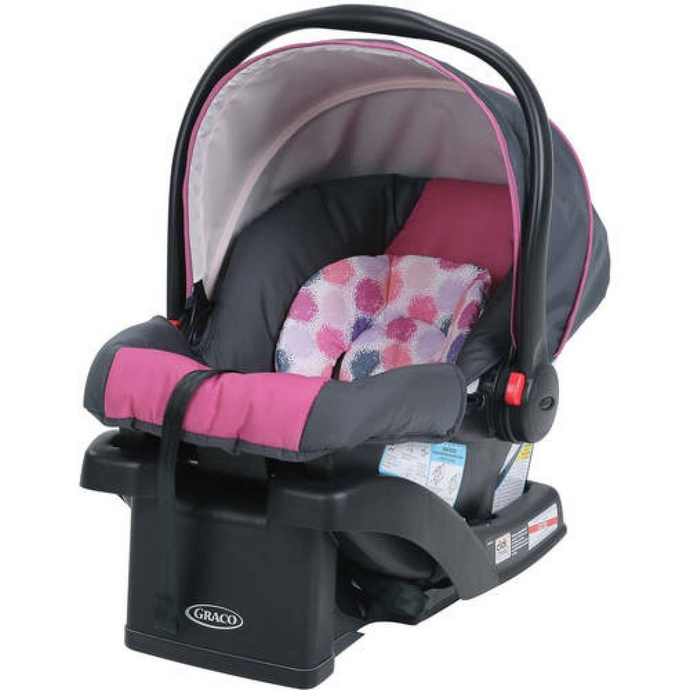Infant Car Seat With Front Rotating Canopy Adjust Safety Harness Straps Jane Graco