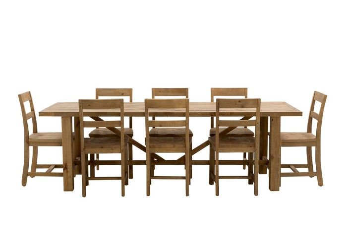 Vintage 2500x900 Dining Package (Table: 2500W x 900D x 785H mm; Chair: 475W x 500D x 800H mm) RRP $1,869