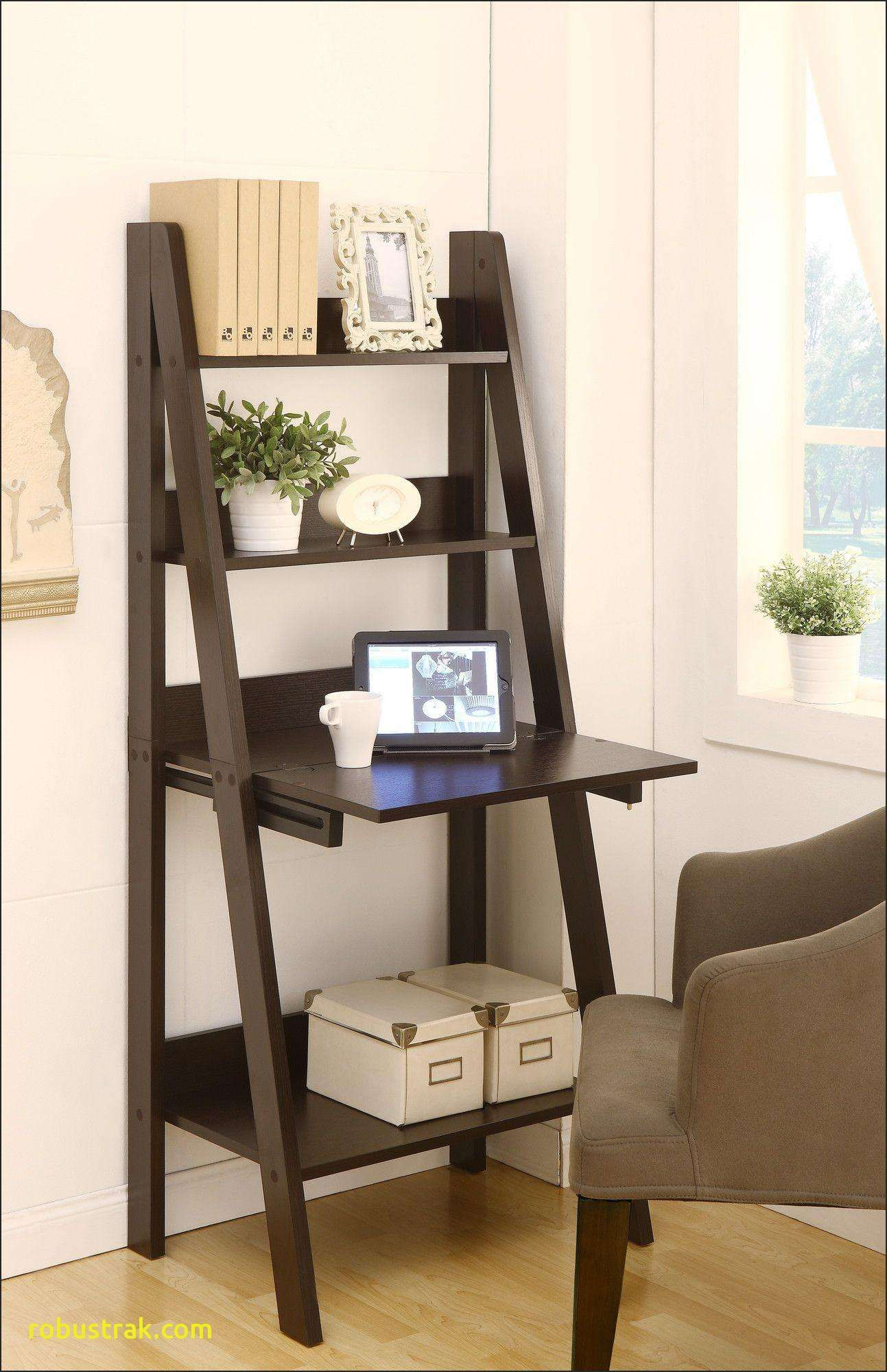 Classy Computer Tables To Go With Living Room Decor: Furniture Marvelous Bookshelf Desk Elegant Stanton Ladder