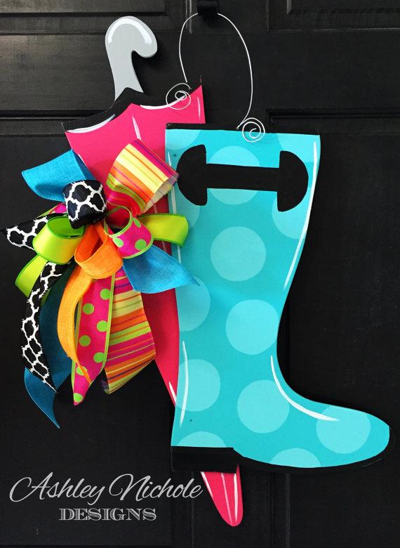 Photo of Rainboot & Umbrella Door Hanger, Door Decoration