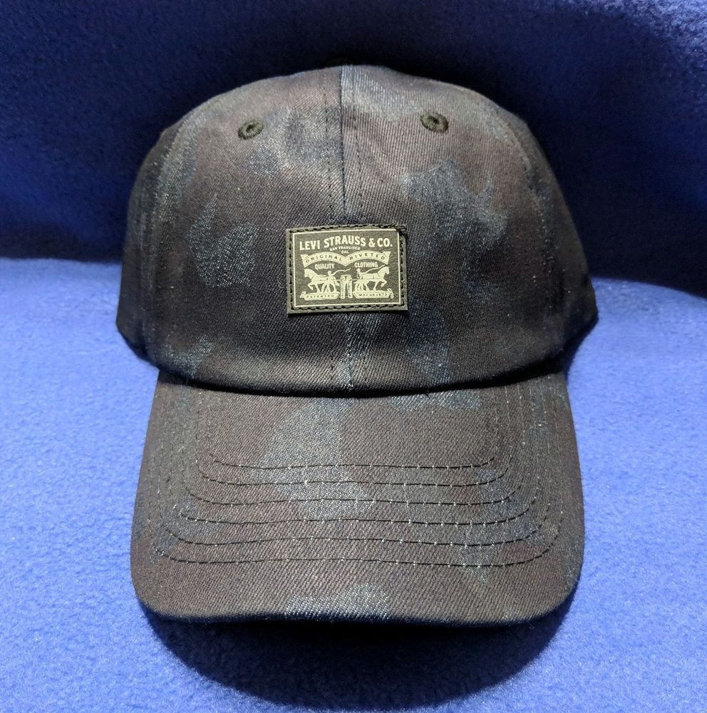 9ebc315ddc2ef New Levis Spell Out Waxed Denim Camouflage Adjustable Snapback Hat Cap Blue   fashion  clothing  shoes  accessories  mensaccessories  hats (ebay link)