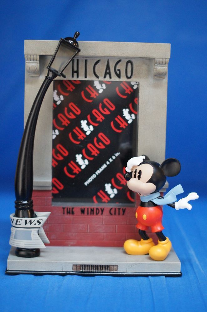 Chicago disney store mickey mouse windy city figurine photo picture frame disneystore disney - Disney store mickey mouse ...