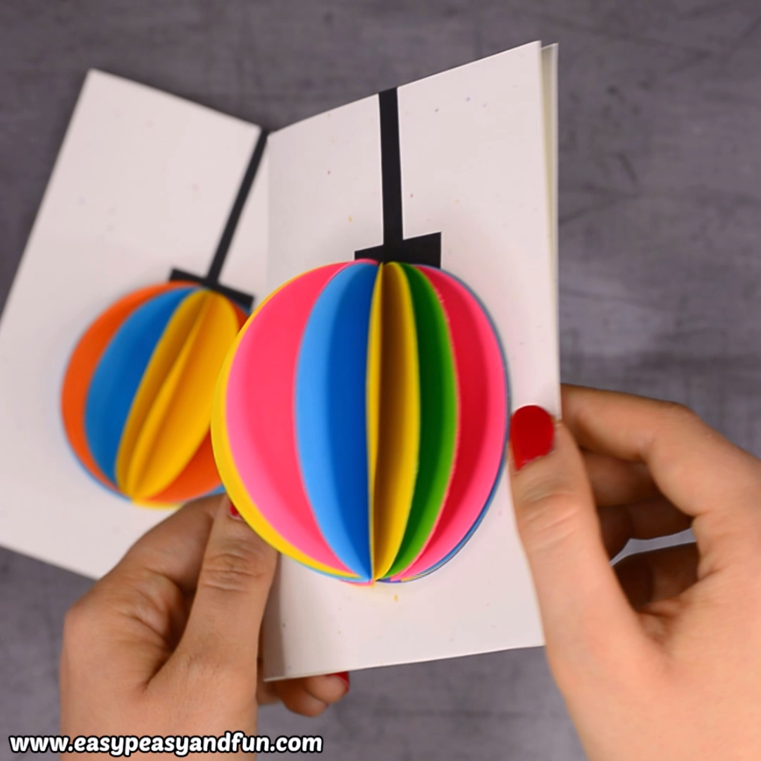 This Diy 3d Paper Ornament Christmas Card Will Delight Both Young And Old Christmas Card Ornaments Paper Christmas Ornaments Crafts