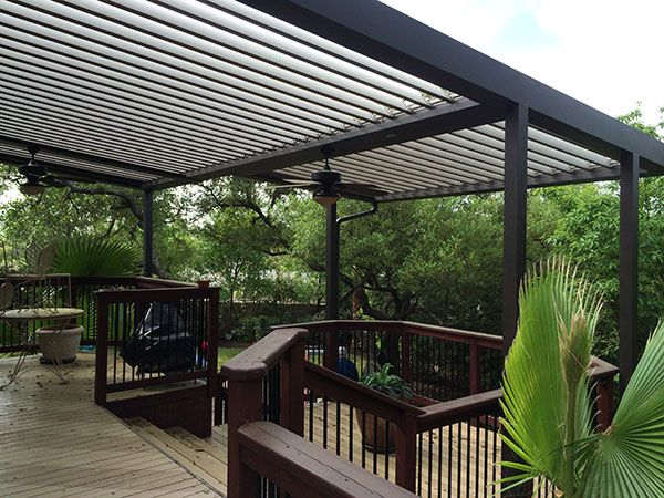 motorized louvered roof systems