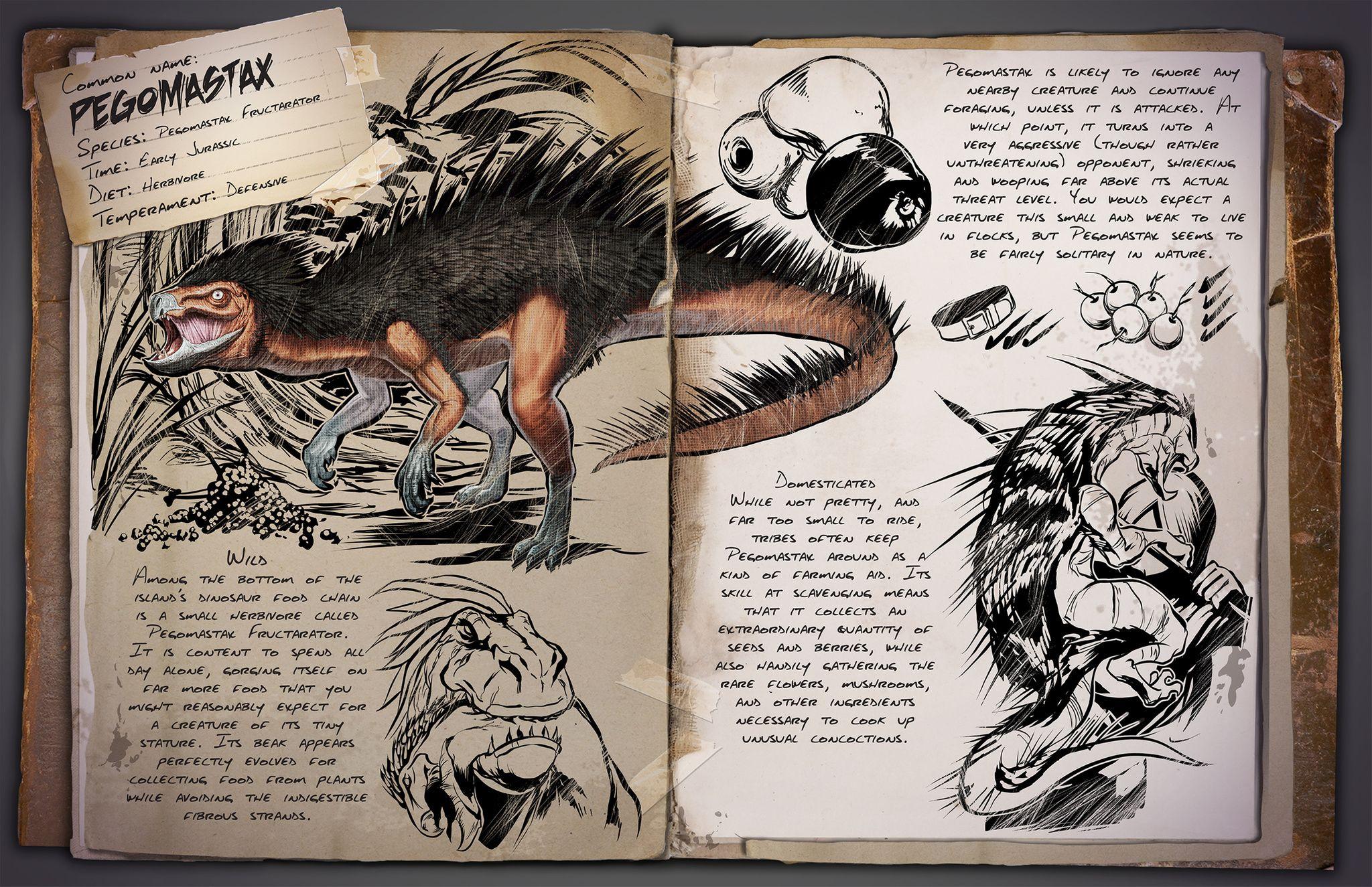картинки досье динозавров из арк этом