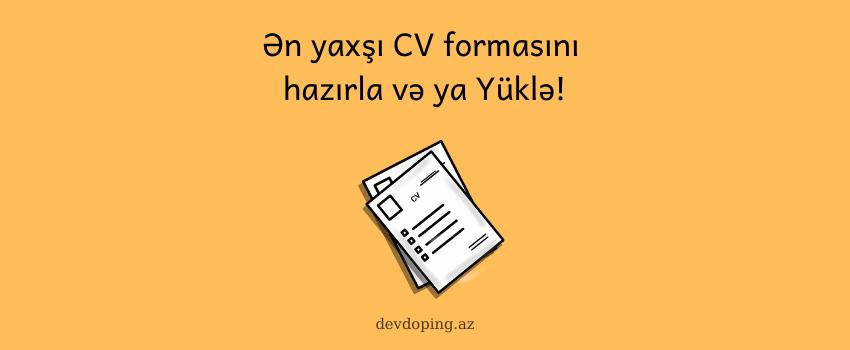 Cv Formasi Hazirlamaq Qaydalari Və Saytlari 10 Online Cv Word Doc Words
