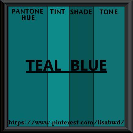 PANTONE SEASONAL COLOR SWATCH TEAL BLUE