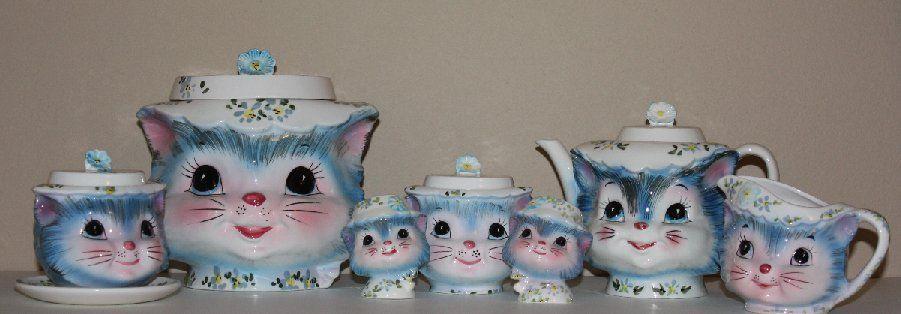 Miss Priss Cat Cookie Jar Set Cat Cookie Jar Cookie Jars