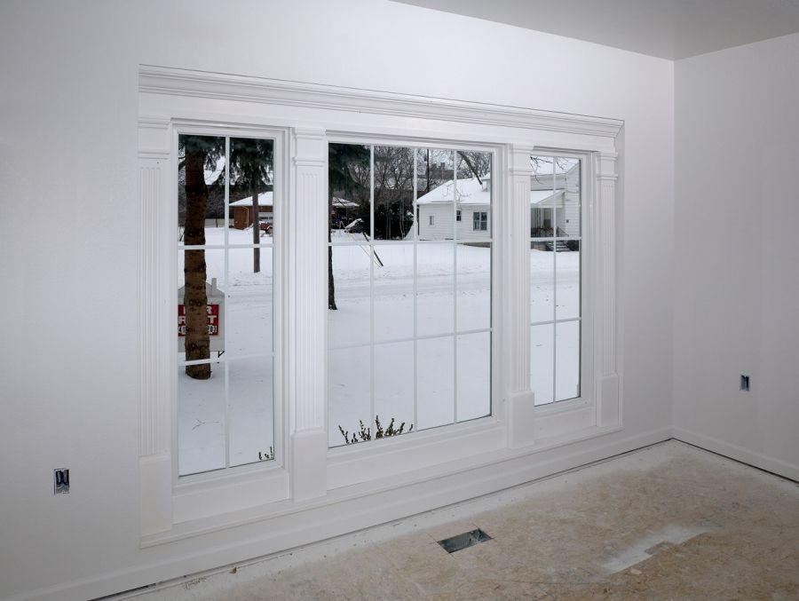 Bow bay window replacement idea but without the panes for Bay window replacement ideas