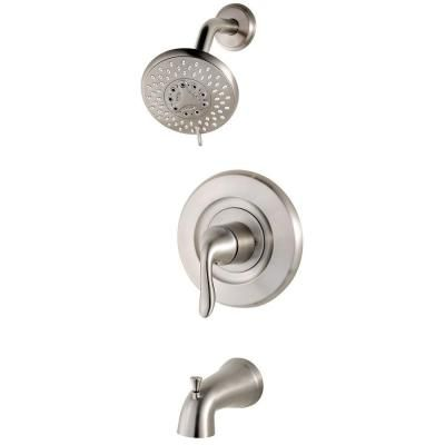 Pfister Universal Single Handle Transitional Tub And Shower Faucet Trim Kit In Brushed Stainless Steel Valve Not Included R90 Tn2k Shower Tub Tub Shower Faucets Brushed Stainless Steel