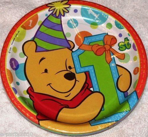 "WINNIE THE POOH 8 PACK OF 6 3/4"" PARTY PLATES #DESIGNWARE #BirthdayChild"