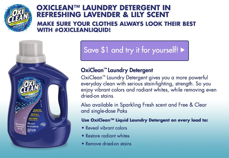 Oxiclean Freesample From Smiley360 I Love Fresh Lavender Scent