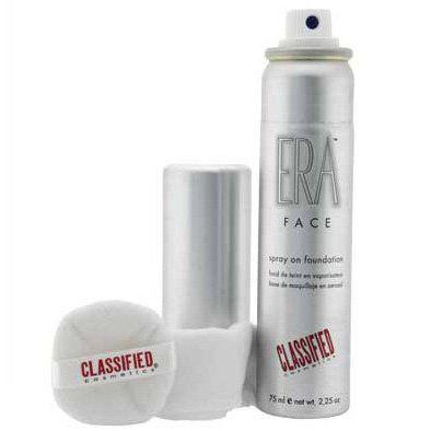 classified cosmetics era face spray on foundation  r2