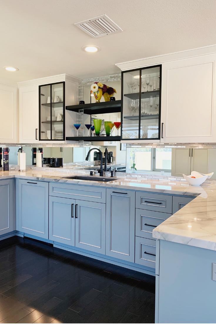 1610 Cortlandt St Houston Tx 77008 Mirror Tile Backsplash Kitchen Kitchen Mirror Mirror Backsplash Kitchen