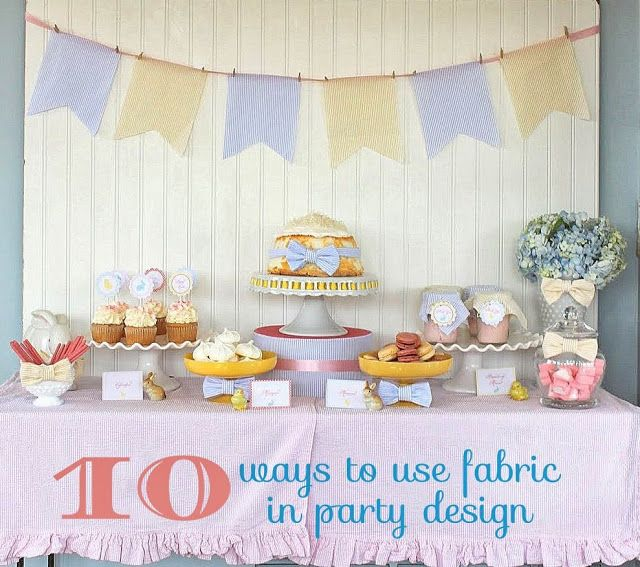 Mirabelle Creations: 10 Ways to Use Fabric in Party Design