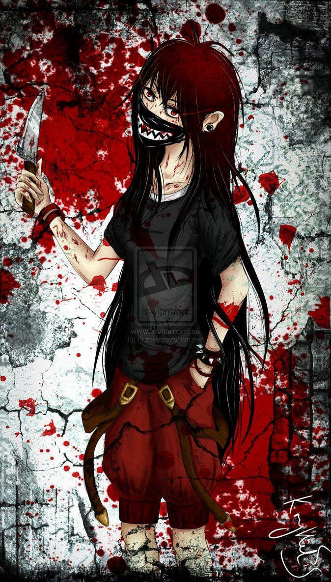 Bloody Anime Bloody Anime Girl scary Anime girl