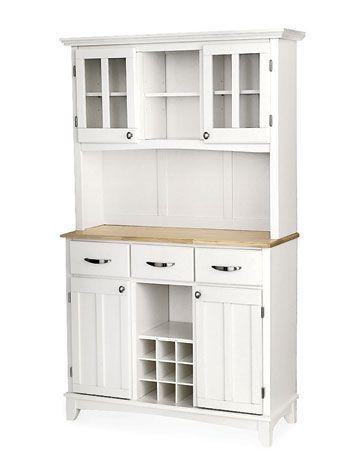 White Kitchen Hutch Cabinet  Antique White Kitchen Cabinets Endearing White Kitchen Hutch Review