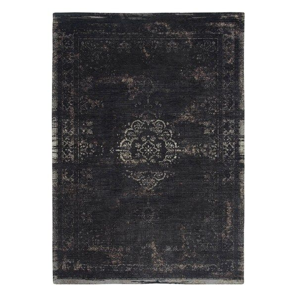 Louis De Poortere Fading World Rugs 8263 Mineral Black Free Uk Delivery Rugs Minerals Medallion Rug