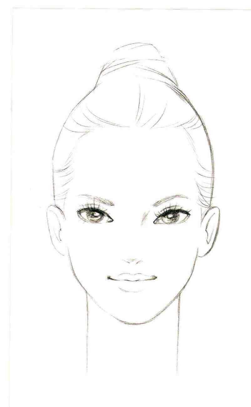 Naoki Watanabe Face illustration, Makeup face charts
