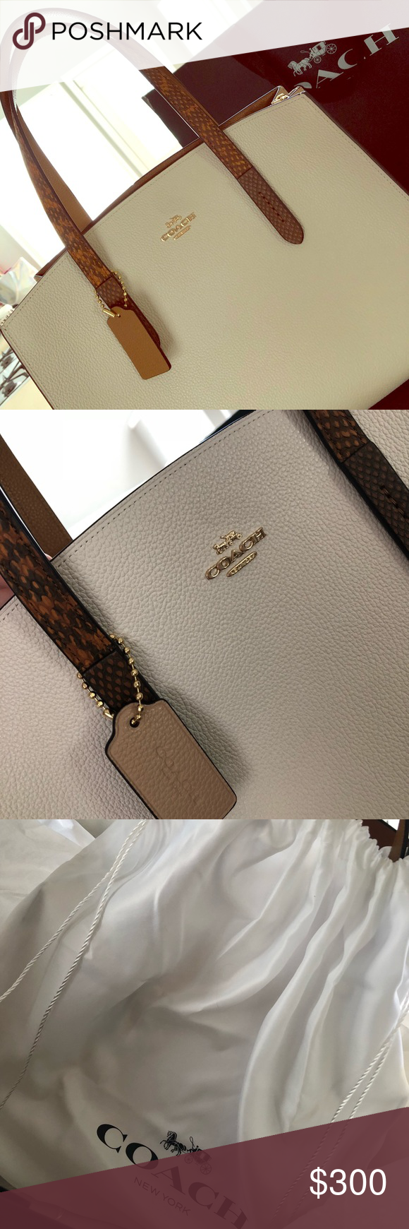 3d37a927b8 **BRAND NEW** Coach Charlie Carryall !! Charlie Carryall with Colorblock  Snakeskin