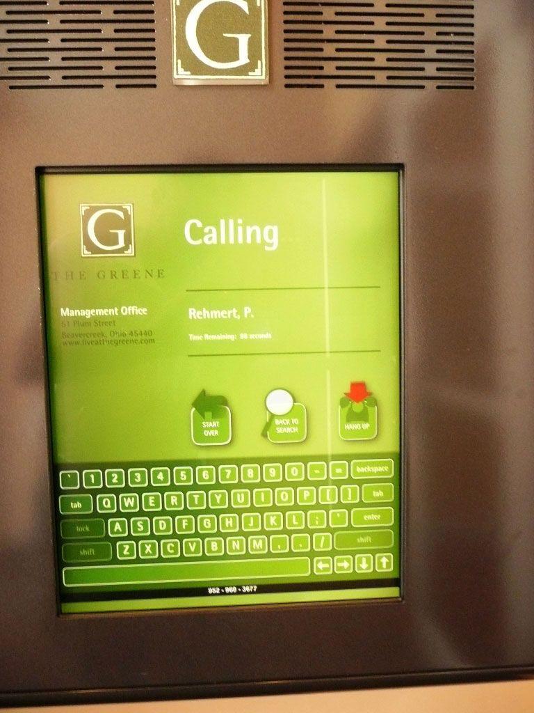 The Greene Directory Building Directory Digital kiosk
