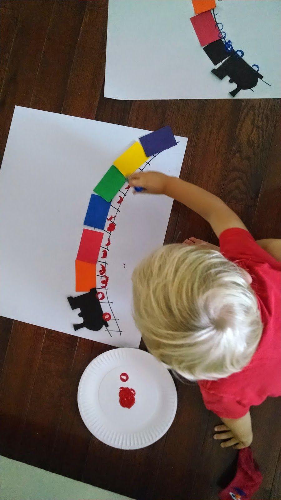 Simple Rainbow Train Craft for Kids
